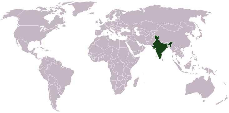 hindustani-language-map