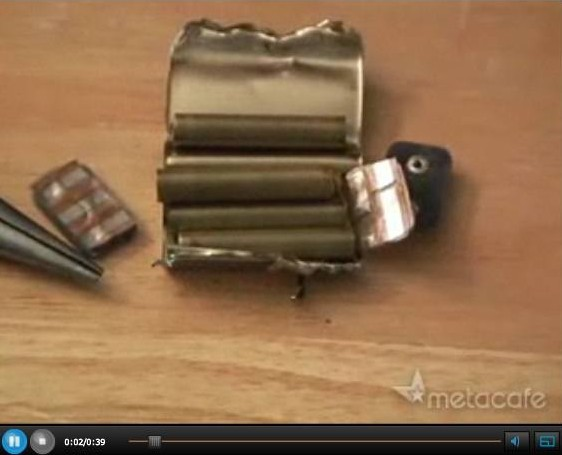 12 Volt Battery Hack Video 8. How to Obtain AA-size from 12-volt Battery