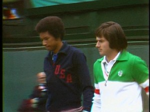 Arthur Ashe  Jimmy Connors  1975
