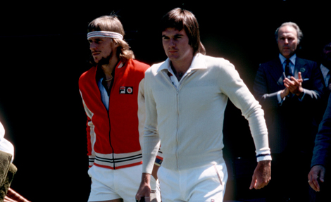 Bjorn Borg  Jimmy Connors 1977