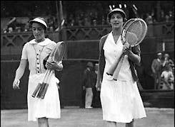 Helen Wills Moody Suzanne Lenglen 1926