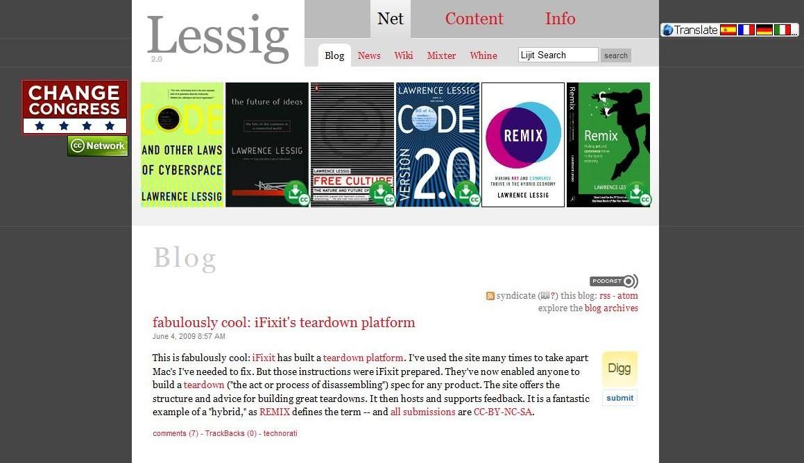 Lessig-Blog