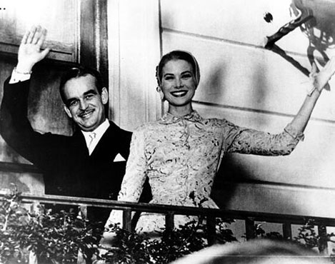 Prince Rainier of Monaco and Grace Kelly