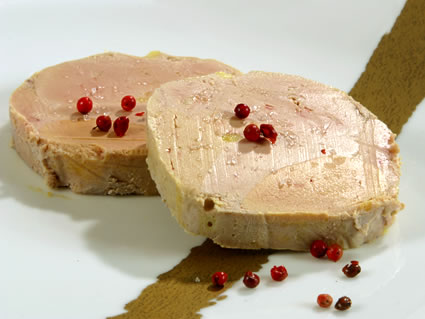 Foie gras is the result of the force feeding of the goose before slaughtering it.