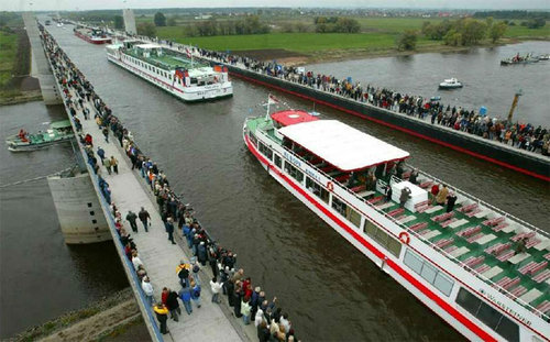 Magdeburg Water Bridge Germany