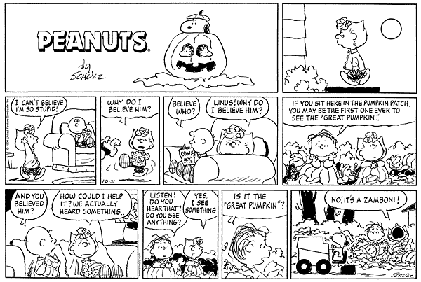 Peanuts comic strip