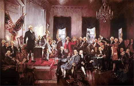 Signing U.S. Constitution