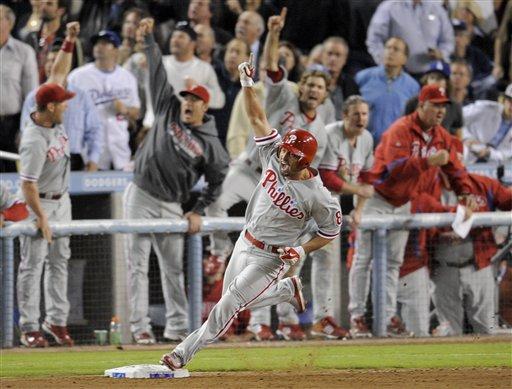 NLCS Phillies Dodgers Baseball