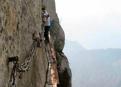 Most Dangerous Tourist Hiking Trail China