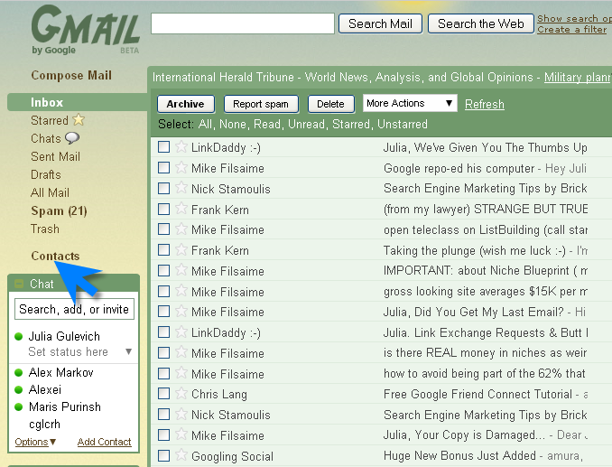 gmail-log into your account