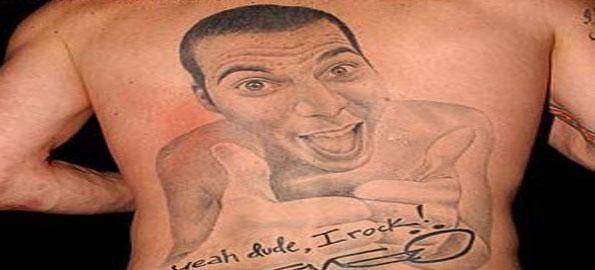 Steve o tattoo ostrich