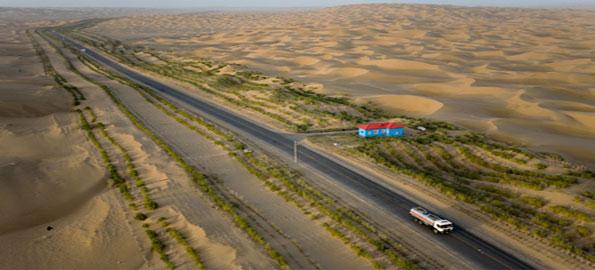 The-Tarim-Desert-Highway