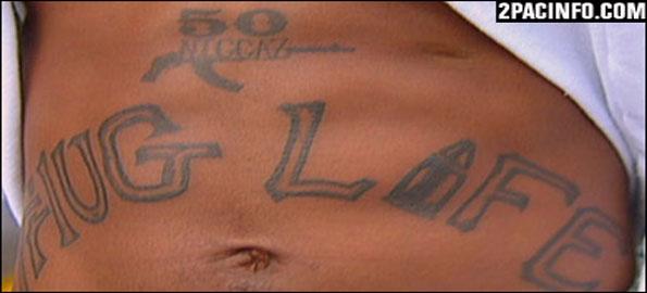 Tattoos of quotes tupac shakur tattoos for Thug life tattoo tupac