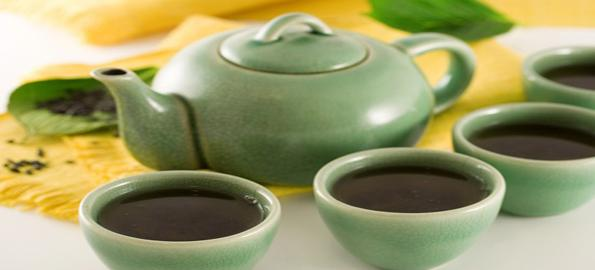 Brewing fully eliminates caffeine content in green tea