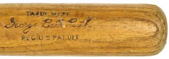Ruth's 1923 Louisville Slugger bat