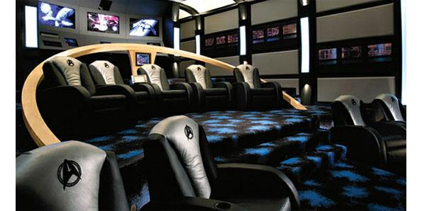 completely Star Wars-themed home theater room