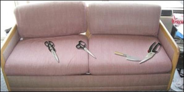 Cutting (No running) with kitchen scissors
