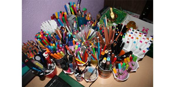 Turning your room into a shrine dedicated to pens