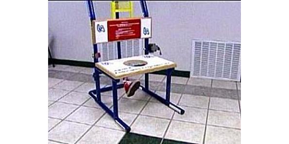 self operated butt-kicking machine