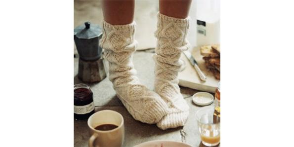Wear comfy wool socks