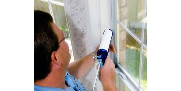 caulking your windows and doors