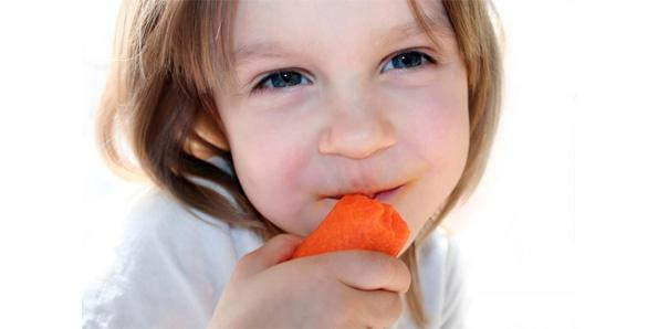 Eating carrots