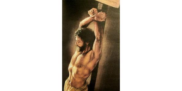 Jesus upright stake