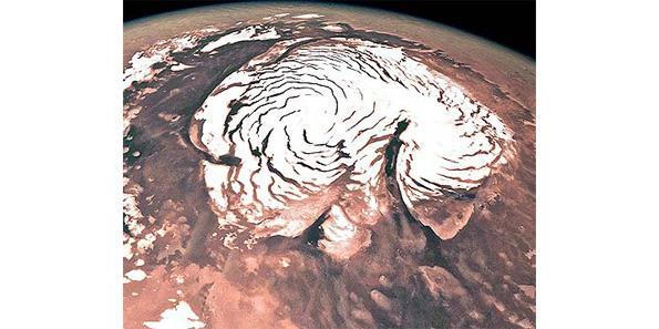 Mars snow