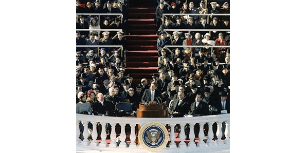 """Inauguration address"" of John F"