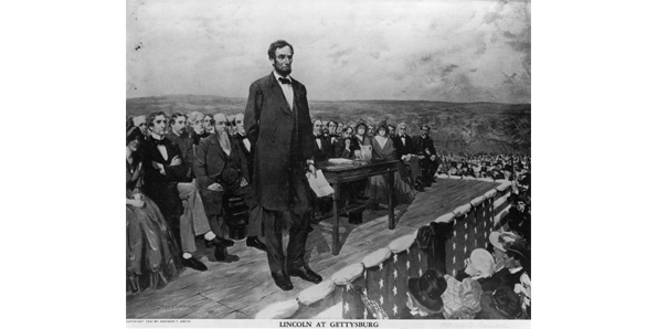 """The Gettysburg address"" by Abraham Lincoln"