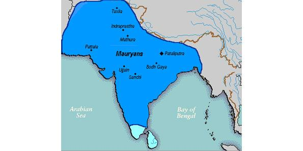 Mauryan Empire by King Asoka