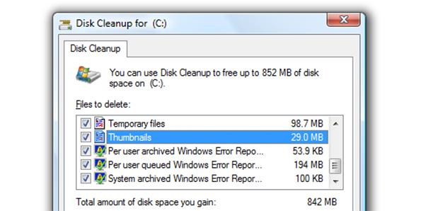 Run disk clean up frequently