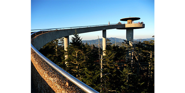Clingmans Dome along the Appalachian Trail in Great Smoky Mountains national Park