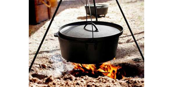 Cook campfire food