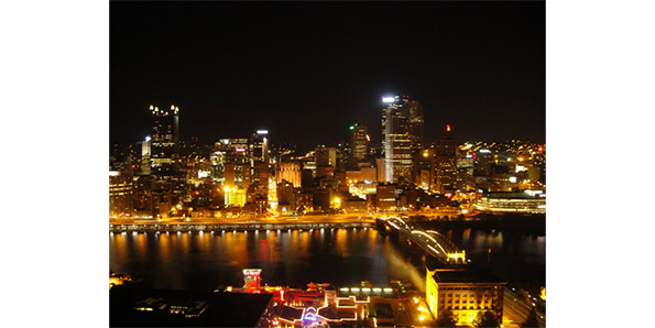 Night view from Mount Washington