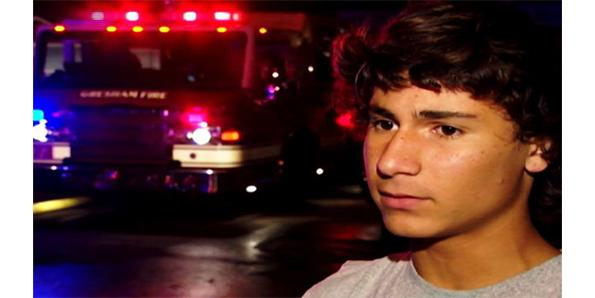 The 14-year-old who saved a young boy from a burning building