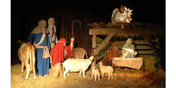 see a play based on Christ rebirth