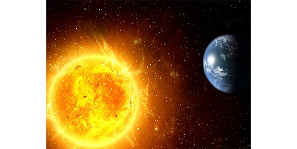 One million Earths could fit inside the Sun
