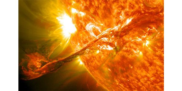 The Sun has a very strong magnetic field
