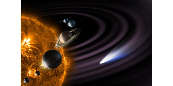 The sun is by far the largest and the hottest object in the solar system