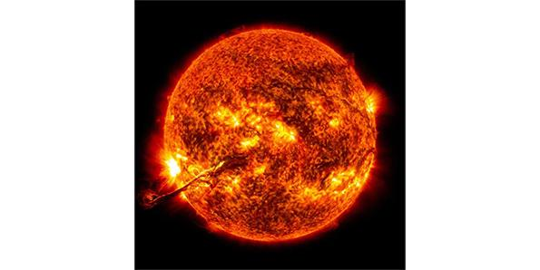 The sun is made up of distinctive areas